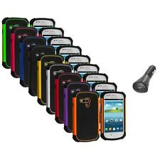 For Samsung Galaxy S3 Mini Hybrid Rugged Shockproof Hard Case Cover+Car Charger