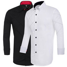 Stylish Mens Casual Button Down Slim Fit Long Sleeve Casual/Formal Dress Shirts