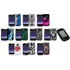 Design Hard Snap-On Rubberized Case Cover+Sticky Pad for ZTE Avid 4G N9120