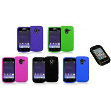 Color Silicone Rubber Gel Soft Skin Case Cover+Sticky Pad for ZTE Avid 4G N9120