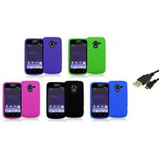 Color Silicone Rubber Gel Soft Skin Case Cover+USB Cable for ZTE Avid 4G N9120