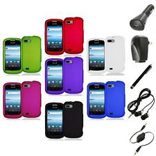 Color Hard Snap-On Rubberized Case Cover Accessory+Accessories for ZTE Fury N850