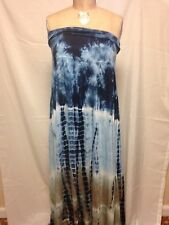 Raviya Plus Size Tie Dye Convertible Dress Blue  NWT
