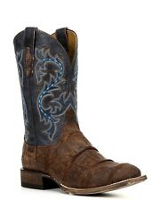 Lucchese M4344 Mens Brandy & Navy Giant Alligator Leather Western Cowboy Boots