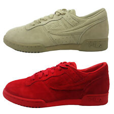 NEW AUTHENTIC MEN'S FILA ORIGINAL FITNESS SUEDE 1VF80114-600 900 KHAKI RED