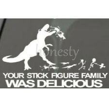 Your Stick Figure Family Was Delicious Sticker Vinyl Decal Car Laptop Window