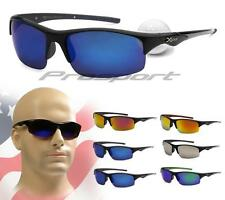 Xloop Sunglasses Mirrored Golf Fishing Sports Cycling Blue Orange Silver Mens