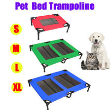 Pet Dog Trampoline Bed Hammock Puppy Cover Heavy Duty Foldable Frame S M L XL