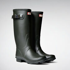Hunter Huntress Matte Dark Olive Tall Extended Calf Bot NWT Wide Welly Authentic