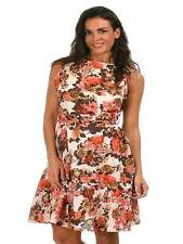 NEW Diya Mocha plus size 22 24 26 28 sleeveless floral cotton lined dress