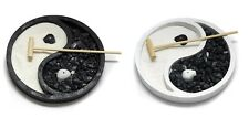 Zen Garden Feng Shui Yin Yang Home Decoration Rake Rocks Sand Incense Holder NEW