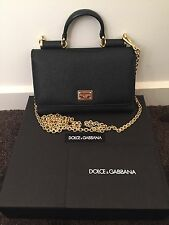 Authentic Used Dolce & Gabbana Small Miss Sicily iPhone Chain Crossbody Bag
