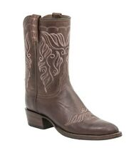 Lucchese HL4502 Womens Tan Burnished Calf Leather Western Cowboy Boots