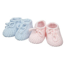 BABY BOOTIES bootees 0-3 mths by SOFT TOUCH white pink or blue