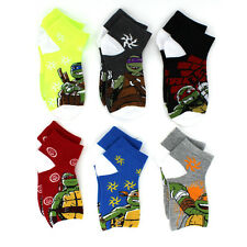 TMNT Teenage Mutant Ninja Turtles Boys 6 pk Socks 7241QH-MUL 6-8
