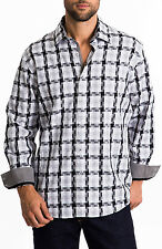 Men's Zagiri KML-2466 Maximum Overdrive Black Plaid Sport Dress Shirt $145 NWT