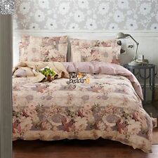 Twin Full Queen King Size Bed Quilt/Duvet Cover Set Pillowcases New 100% Cotton