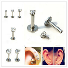 Monroe Earring Cartilage Stud Gem Round Body Piercing Tragus Lip Ring Piercing