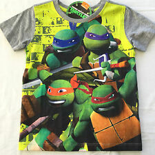 NEW - Boys Teenage Mutant NINJA Turtles T-Shirt - Size 2, 4, 5