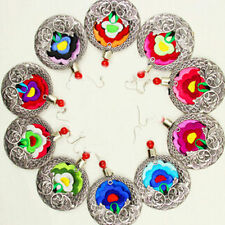 National Style Woman Exaggerated Earring Vintage Bohemian Colorful Earring