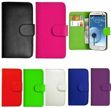PU LEATHER WALLET FLIP CASE COVER FOR SAMSUNG GALAXY MOBILE PHONE + SCREEN GUARD