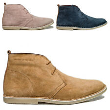Ladies London Brogues Real Genuine Suede Leather Desert Ankle Lace Up Boots Size