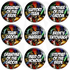 Star Wars Wedding - Various Designs 25mm Button Badge with Fridge Magnet Option