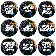 Space Wedding - Various Designs - 25mm Button Badge with Fridge Magnet Option