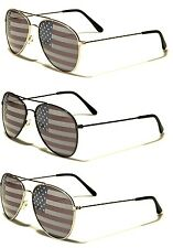 NEW!!! American Flag Aviator Sunglasses with Silver, Gold, Black Frames