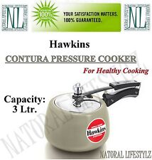 Hawkins Contura Apple Green Pressure Cooker 3 Ltr. Cookware Ceramic-Coated