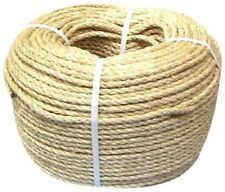 12mm NATURAL SISAL ROPE COILS, DECKING, GARDEN, CAT SCRATCHING POST PARROT TOYS