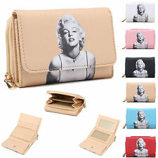 Ladies Marilyn Monroe Faux Leather Purse Wallet Clutch Bag Boxed M95-168 Handbag