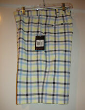 Men's Nike Golf 452712-102 Plaid Dri Fit FLAT FRONT SHORTS Sz 30 $70 NWT