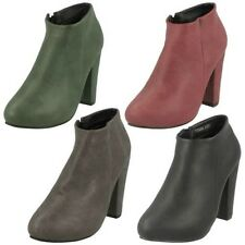 Ladies Anne Michelle High Heel Stylish Ankle Boots F50006