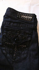 Affliction Jade Blade Cross Blue Boot Cut Denim Jeans Sz 24 & 28 02BC173 NWT