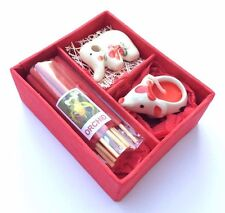 INCENSE AROMA SPA SCENT CANDLE ELEPHANT TEALIGHT FLOWER FRAGRANCE THAI GIFT SET