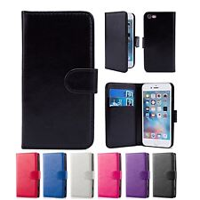 PU LEATHER WALLET CASE COVER FOR Apple iPhone 5 / 5S + FREE SCREEN PROTECTOR