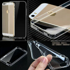 Ultra Thin Clear TPU Gel Case Cover For Apple iPhone Model + Free Screen Guard