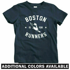 Boston Is For Runners Kids T-shirt - Baby Toddler Youth Tee - Running Beantown
