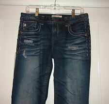 NWT Mek Denim Tomsk Dark Indigo Boot Cut Low Rise Women's Jeans 26x34
