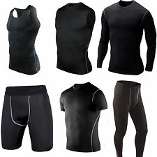 Mens Compression Base Under Layers Shirts Tank Top Shorts Pant Tights Sport Gear