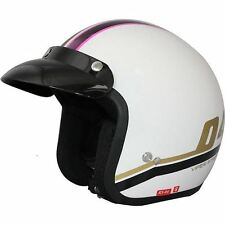 Viper RS-04 Moderna Pink Retro Motorcycle Scooter Motorbike Helmet Open Face New