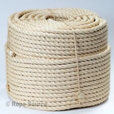16mm NATURAL SISAL ROPE COILS, DECKING, GARDEN, CAT SCRATCHING POST, PARROT TOYS