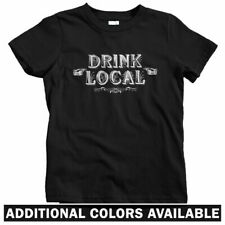 Drink Local Kids T-shirt - Baby Toddler Youth Tee - Bar Bartender Brewery Beer