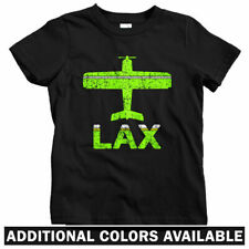 Fly Los Angeles LAX Airport Kids T-shirt - Baby Toddler Youth Tee - California