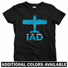 Fly Washington DC IAD Airport Kids T-shirt - Baby Toddler Youth Tee - USA Gift
