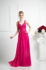 Simple Gorgeous Long Bridesmaids Dress Formal Prom Plus Size Gown