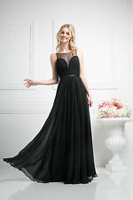TheDressOutlet Elegant Pleaded Long Formal Evening Dress Prom Plus Size Gown