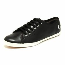 1283H sneakers donna nere FRED PERRY phoenix leather scarpe shoes women