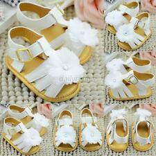 Baby White Flower Sandals Infant Girls Soft Sole Princess Shoes Prewalker Boots
